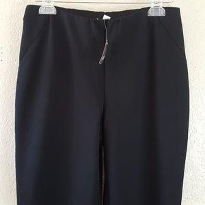 J. Jill Ponte Slim leg black trousers NWT